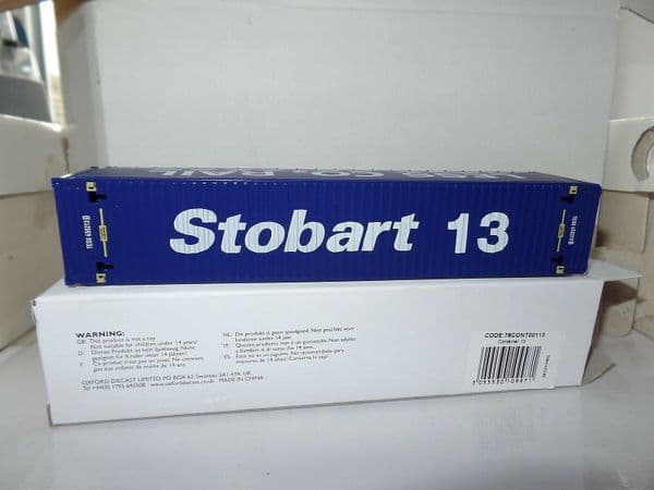 Oxford 76CONT00113 CONT00113 1/76 OO Scale Rail Container 13 Eddie Stobart CO2