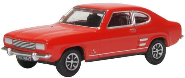 Oxford 76CP002 CP002 1/76 OO Scale Ford Capri Mk I 1 Sunset Red