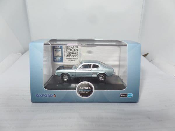 Oxford 76CP004 CP004 1/76 OO Scale Ford Capri Mk I 1 Blue Mink