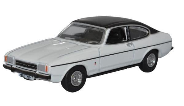 Oxford 76CPR003 CPR003 1/76 OO Scale Ford Capri Mk II 2 Diamond White Black Roof