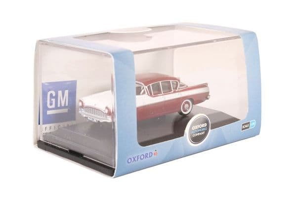 Oxford 76CRE009 CRE009 1/76 OO Scale Vauxhall Cresta Venetian Red Polar White