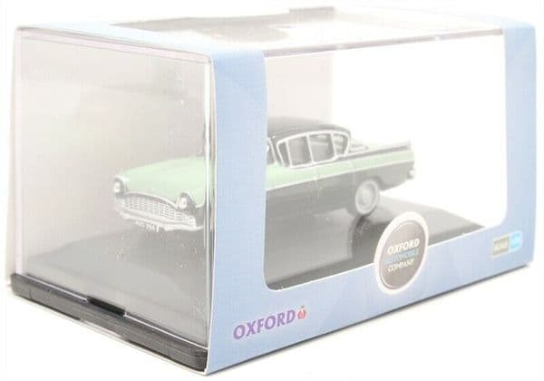 Oxford 76CRE011 CRE011 1/76 OO Scale Vauxhall Cresta Versailles Green and Black
