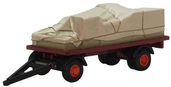 Oxford 76CTR002 CTR002 1/76 OO  Scale Sheeted Canvas Canvassed Trailer Maroon Red