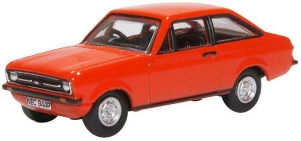 OXFORD 76ESC001 ESC001 1/76 OO Scale FORD ESCORT MKII 2 Tango Orange Red