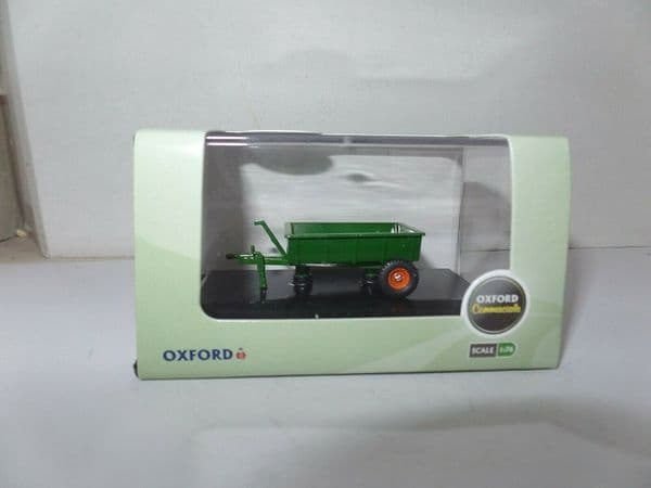 Oxford 76FARM005 FARM005 1/76 OO Scale Farm Farmers Open Trailer Green