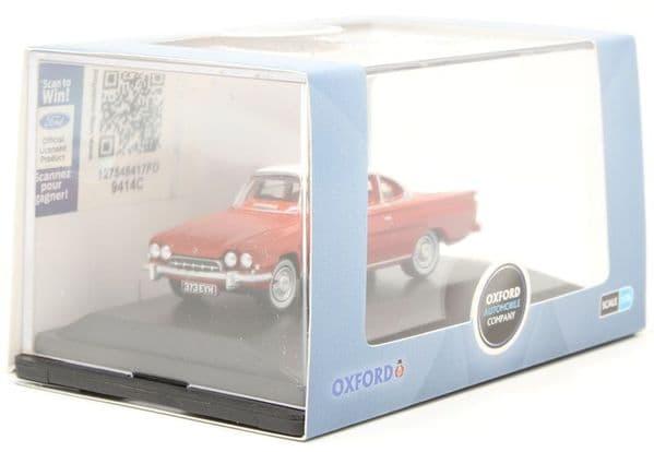 Oxford 76FCC003 FCC003 1/76 OO Scale Ford Consul Capri Monaco Red and White