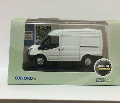 Oxford 76FT001 FT001 1/76 OO Ford Transit Short SWB Medium Top Van Dealer Frozen White