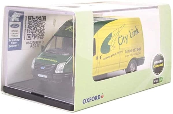 Oxford 76FT025 FT025 1/76 OO Scale Ford Transit High LWB Van City Link