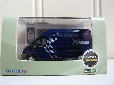 Oxford 76FT028 FT028 1/76 OO Scale Ford Transit  LWB High Van Scotrail Blue