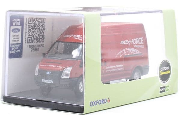 Oxford 76FT034 FT034 1/76 OO Scale Ford Transit Mk5 LWB High Parcelforce Worldwide