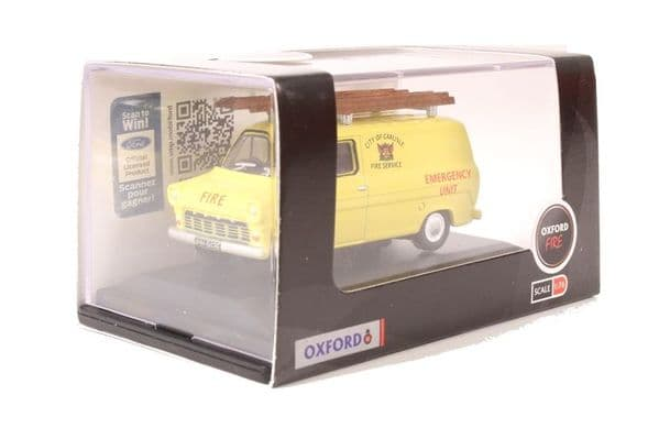 Oxford 76FT1004 FT1004 1/76 OO Ford Transit Mk I  City Of Carlisle Fire Service Yellow