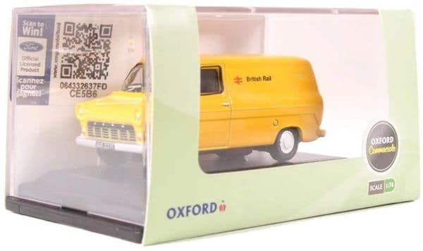 Oxford 76FT1005 FT1005 1/76 OO Ford Transit Mk I British Rail Yellow Barbed Wire
