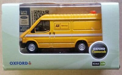 Oxford 76FT3004 FT3004 1/76 OO Scale Ford Transit Mk III 3 AA Automobile Association