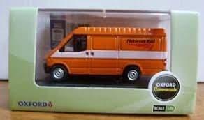 Oxford 76FT3007 FT3007 1/76 OO Scale Ford Transit Mk III 3 Network Rail Orange