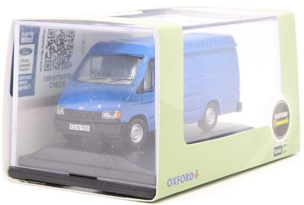 Oxford 76FT3009 FT3009 1/76 OO Scale Ford Transit Mk III 3 Gentian Blue