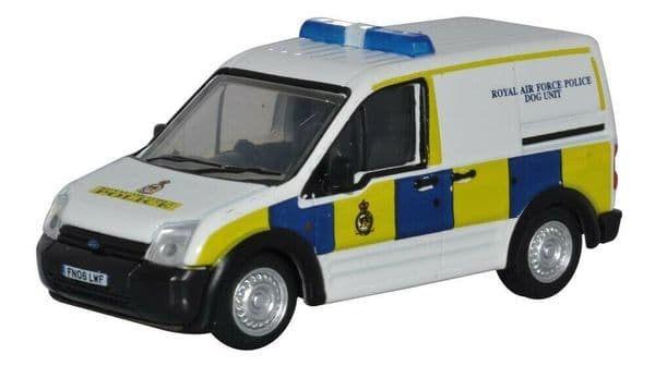 Oxford 76FTC012 FTC012 1/76 OO Scale Ford Transit Connect Van RAF Police Dogs