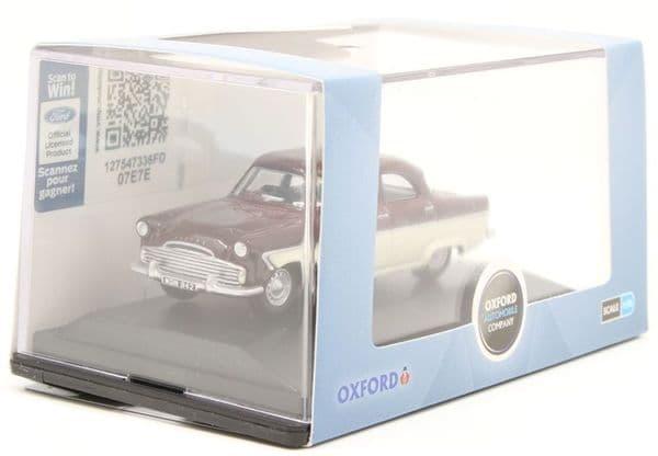Oxford 76FZ002 FZ002 1/76 OO Scale Ford Zodiac MKII Imperial Maroon/Ermine White