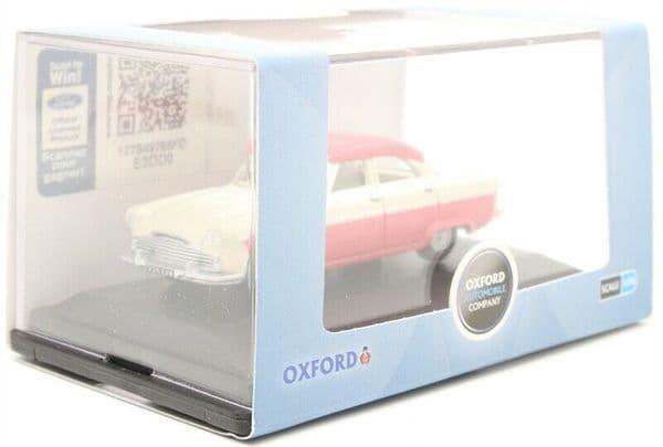 Oxford 76FZ003 FZ003 1/76 OO Scale Ford Zodiac MKII Ermine White and Pink