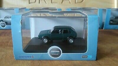 Oxford 76GF005 GF005  1/76 OO Scale VW Volkswagen Golf GTi Lhasa Green Metallic