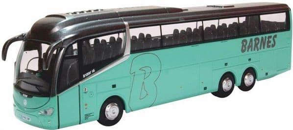 Oxford 76IR6007 IR6007 1/76 OO Scale  Scania Irizar i6 Coach Barnes Coaches