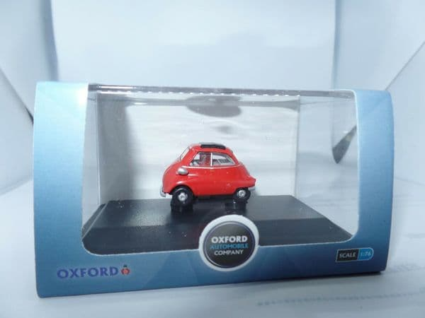 Oxford 76IS001 IS001 1/76 Scale BMW Isetta Bubble Car Signal Red