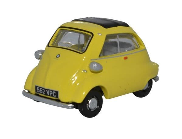 Oxford 76IS004 IS004 1/76 OO Scale BMW Isetta Bubble Car Yellow