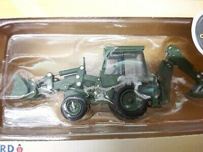 Oxford 76JCX002 JCX002 1/76 OO Scale JCB 3CX 1980 Backhoe Loader Excavator Dozer Army Green