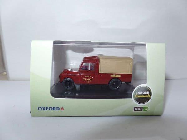 Oxford 76LAN1109009 LAN1109009 Land Rover S1 109 inch British Railways Maroon