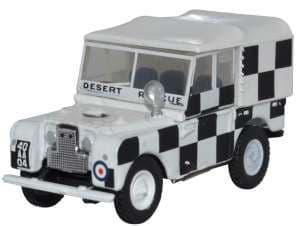 Oxford 76LAN180009 LAN180009 1/76 OO Land Rover Series I 80 Canvas RAF Triploli