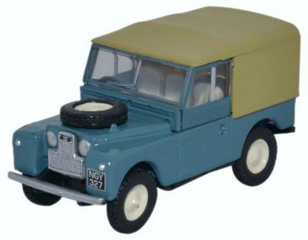 Oxford 76LAN188023 LAN188023 1/76 OO Land Rover 88 Marine Blue Beige Canvas