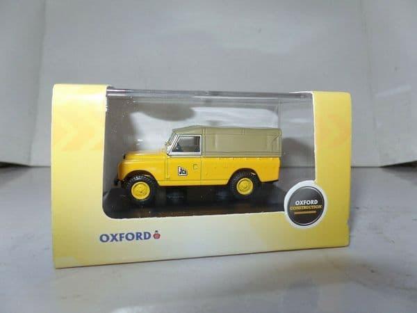 Oxford 76LAN2016 LAN2016 1/76 OO Land Rover Series 2 LWB JCB Canvas Top