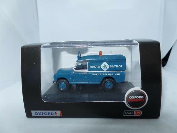 Oxford 76LAN2017 LAN2017 1/76 OO Land Rover Series 2 LWB Hard T RAC Radio Patrol