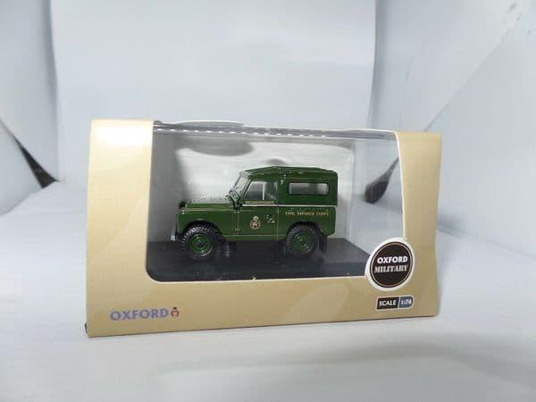 Oxford 76LR2S005 LR2S005 1/76 Land Rover Series 2 II SWB Hard Back Civil Defence