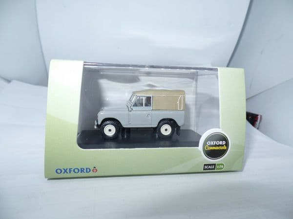 Oxford 76LR3S003 LR3S003 1/76 OO Land Rover Series III SWB Canvas Back Grey