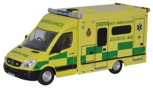 Oxford 76MA001 MA001 1/76 OO Mercedes Emergency Ambulance  Welsh Service