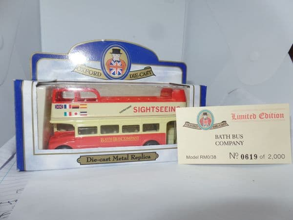 Oxford 76RM038 RM38 1/76 OO Scale London Routemaster Bus  Open-top  Bath City Sightseeing