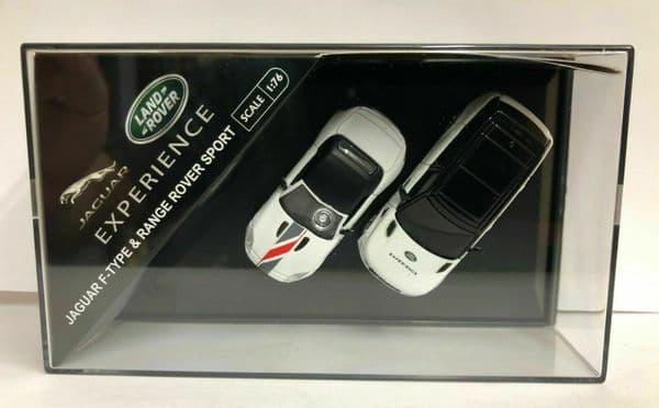 Oxford 76SET Set  Land Rover Jaguar Experience 2 Piece Set  Range Rover Sport F-Type White