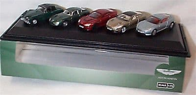 Oxford 76SET43  SET 43 1/76 OO Aston Martin Set 5  Vanquish DB9 DB2 Vantage Zagato