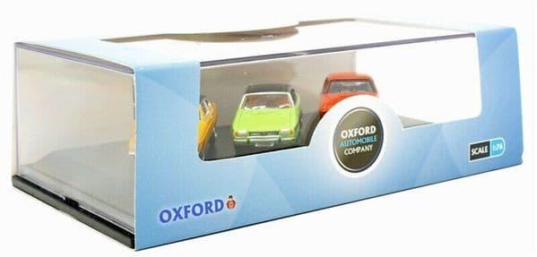 Oxford 76SET69 SET69 Ford Capri Set Mk1 Yellow Mk2 Green Mk3 Orange