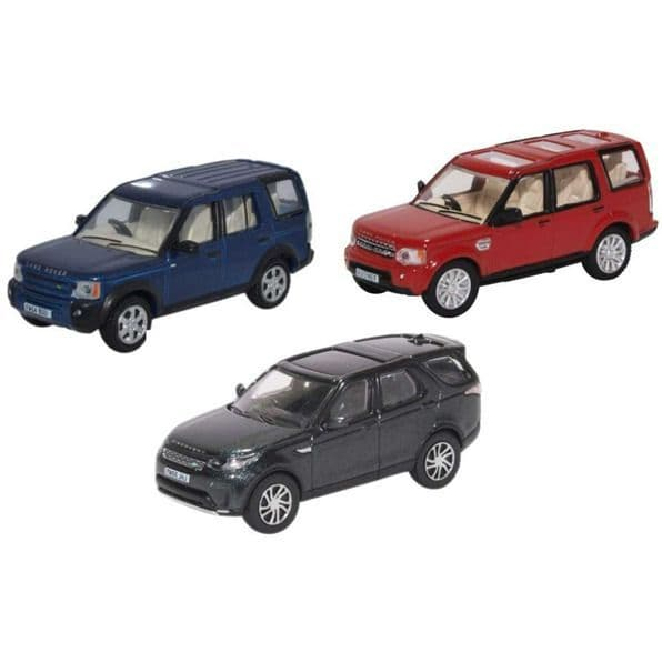 Oxford 76SET71 SET71 1/76 OO Scale 3 Piece Land Rover Discovery Set Mk 3 4 & 5