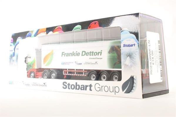 Oxford 76SHL09WF SHL09WF 1/76 OO Scania Walking Floor Eddie Stobart  Frankie Dettori Jockey