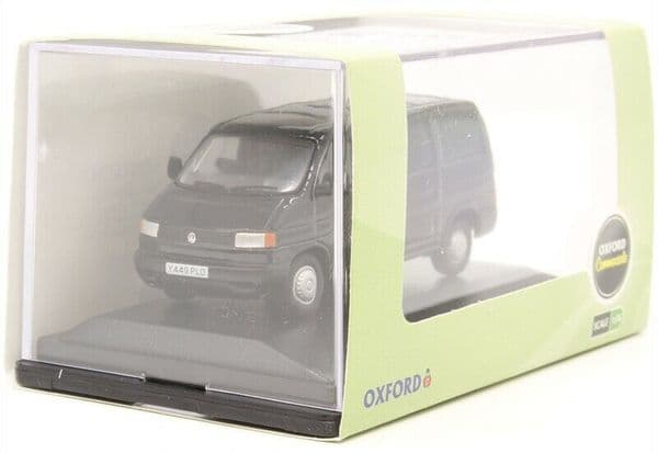 Oxford 76T4004 T4004 Volkswagen VW T4 Van Black 1:76 OO Scale