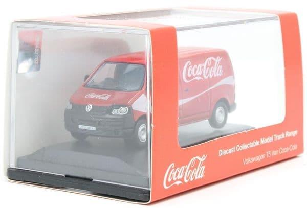 Oxford 76T5V003CC T5V003 1/76 OO Volkswagen VW T5 Van Coca Cola Red Script