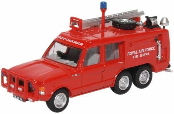 Oxford 76TAC006 TAC006 1/76 OO Scale Land Rover Crash Rescue RAF St.Mawgan Red