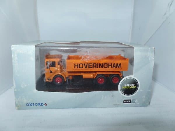 Oxford 76TIP001 TIP001 1/76 OO AEC Ergomatic Tipper 6 Wheel Hoveringham Worn Box