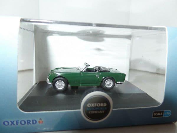 Oxford 76TR4002 TR4002 1/76 OO Scale Triumph TR4 British Racing Green BRG Open