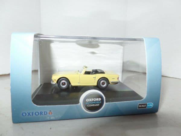 Oxford 76TR6001 TR6001 1/76 OO Scale Triumph TR6 Mimosa Yellow
