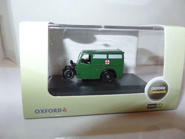 Oxford 76TV007 TV007 1/76 OO Scale Tricycle Van Ambulance Green