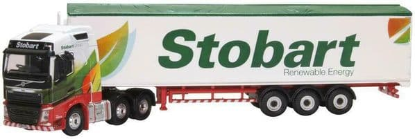 Oxford 76VOL4010 Vol4010 1/76 OO Volvo FH4 GXL Eddie Stobart Renewable Energy