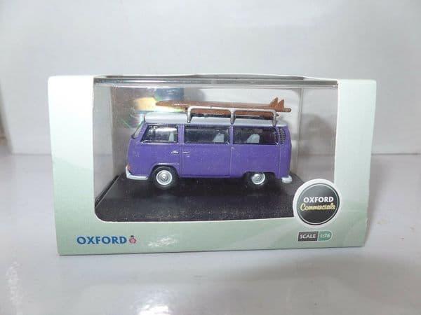 Oxford 76VW015 VW015 1/76 OO Volkswagen VW Camper Bus Purple White Surfboard